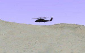 3D helicopter over desert