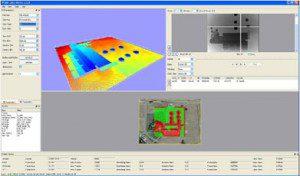 Screenshot of LIDAR data