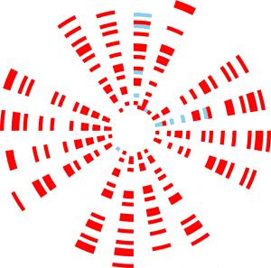 Radial plot of prime numbers